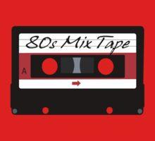 80s Music Mix Tape Cassette Kids Tee