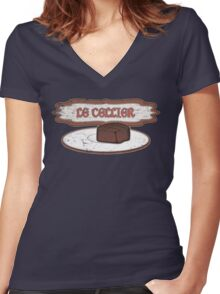 "Le Cellier means ""The Cellar"" ... Women's Fitted V-Neck T-Shirt"