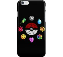 Cracked Pokeball and Badges Kanto version iPhone Case/Skin