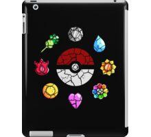 Cracked Pokeball and Badges Kanto version iPad Case/Skin