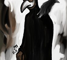 Doctor and Raven by godlessmachine