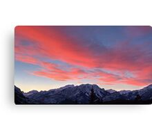 Cascading sunset in widescape Canvas Print