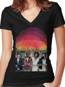 TV on the Radio 02 Women's Fitted V-Neck T-Shirt