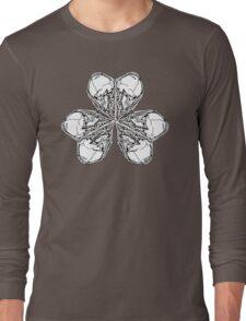 Shamrock Skull N Bones Long Sleeve T-Shirt
