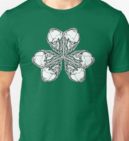 Shamrock Skull N Bones Unisex T-Shirt