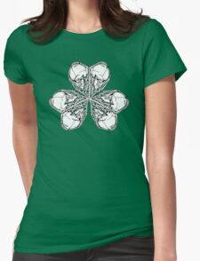 Shamrock Skull N Bones Womens Fitted T-Shirt