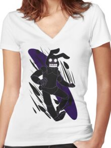 Hiding In The Shadows Women's Fitted V-Neck T-Shirt