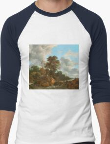 Landscape painting  Men's Baseball ¾ T-Shirt