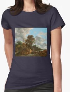 Landscape painting  Womens Fitted T-Shirt