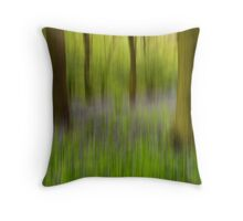 Bluebell Wood Abstract Throw Pillow