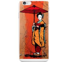 Red Umbrella Geisha iPhone Case/Skin