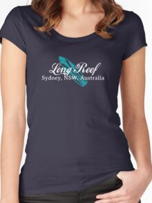 Long Reef Surf (white text) Women's Fitted Scoop T-Shirt