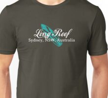 Long Reef Surf (white text) Unisex T-Shirt