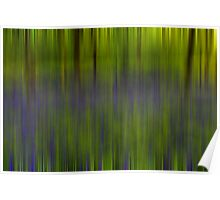Bluebell Woods - Abstract Poster