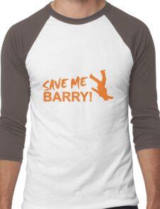 Save Me Barry! Men's Baseball ¾ T-Shirt