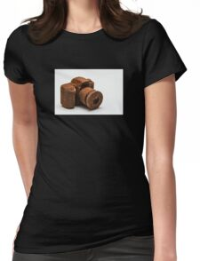 Chocolate Camera Womens Fitted T-Shirt