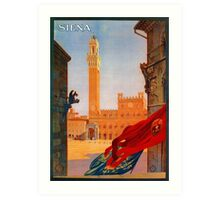 Vintage Siena Italian travel advertising Art Print