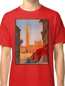Vintage Siena Italian travel advertising Classic T-Shirt