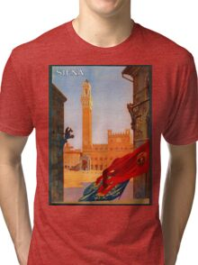 Vintage Siena Italian travel advertising Tri-blend T-Shirt