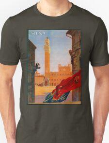 Vintage Siena Italian travel advertising Unisex T-Shirt