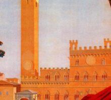 Vintage Siena Italian travel advertising Sticker