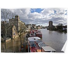 The River Ouse in York Poster