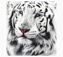 White Tiger Portrait One Piece - Long Sleeve