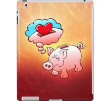 Piggy Bank Daydreaming of Hearts instead of Coins iPad Case/Skin