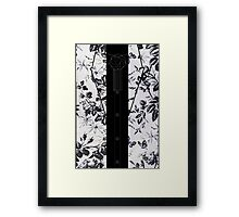 Harry Styles B/W Flowers Framed Print