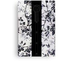 Harry Styles B/W Flowers Canvas Print