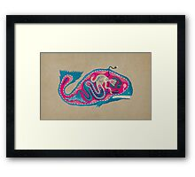 The mistery of the electric fish Framed Print