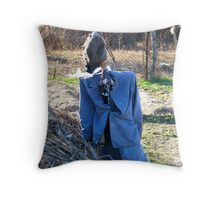 A Romanian Well Dressed Scarecrow Throw Pillow