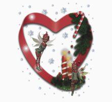 Christmas Heart  One Piece - Short Sleeve