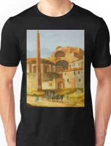 Ruin Building and spire landscape Unisex T-Shirt