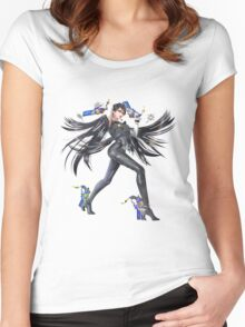 Smash 4 Bayonetta Character Artwork Women's Fitted Scoop T-Shirt