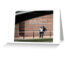 The Writing On The Wall Greeting Card