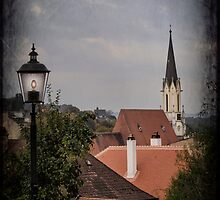 Rooftops of Melk by Yelena Rozov