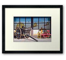 Antique farm equipment Framed Print