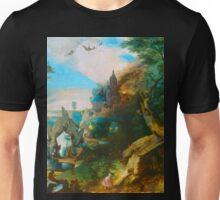Medieval fantasy landscape painting Unisex T-Shirt