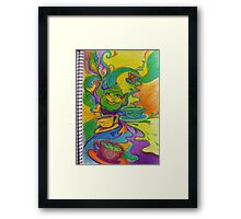 the infinite possibility for joy in sharing a cup of tea with a good friend Framed Print