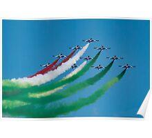 Italian Frecce Tricolori Poster