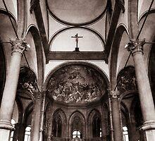 Sepia Italian Church by Alex Wagner