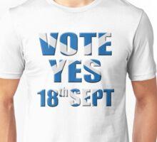 Scottish flag Vote yes - Scottish independence referendum Unisex T-Shirt
