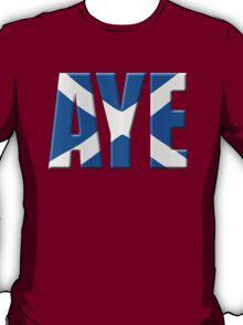 Scottish flag Vote Aye T-Shirt