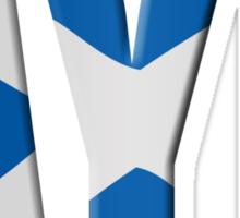 Scottish flag Vote Aye Sticker