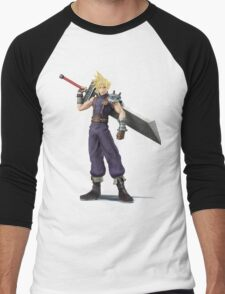 Smash 4 Cloud Artwork Men's Baseball ¾ T-Shirt