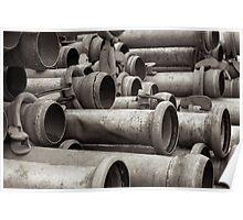 Metal Piping Poster