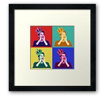 Dylan O'Brien pop art Framed Print