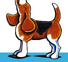 Beagle Howling Funny Birthday by offleashart