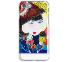 Lady with flowers iPhone Case/Skin